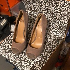💖D'S shoes suede and patten leather size 8.5